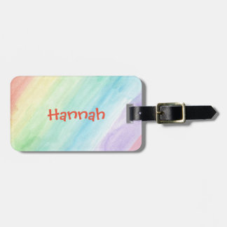 Personalize Seamless Watercolor Pattern Luggage Tag