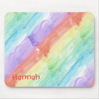 Personalize Seamless Watercolor Pattern Mouse Mat