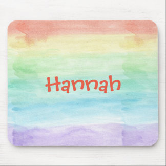 Personalize Seamless Watercolor Pattern Mouse Pad