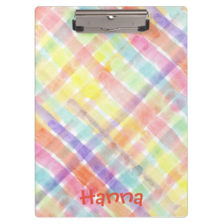 Personalize Seamless Watercolor Pattern - storeman Clipboard