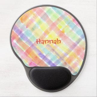Personalize Seamless Watercolor Pattern - storeman Gel Mouse Mat