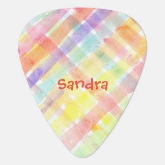 Personalize Seamless Watercolor Pattern - storeman Guitar Pick