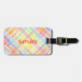 Personalize Seamless Watercolor Pattern - storeman Luggage Tag