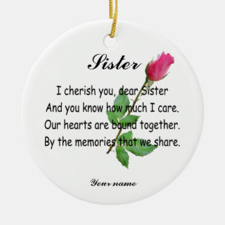 PERSONALIZE SISTER- ORNAMENT