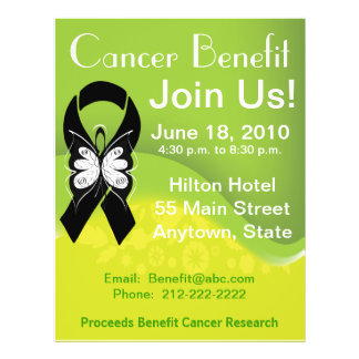 Personalize Skin Cancer Fundraisng Benefit Full Color Flyer