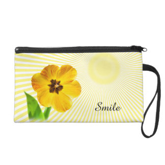 "Personalize: ""Smile"" Yellow Tulip Pic and Sunshine Wristlets"