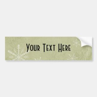 PERSONALIZE Snowflake Paper 3 - Yellow Bumper Sticker