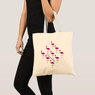 Personalize Sparkly flamingo Pink sparkles pattern Tote Bag