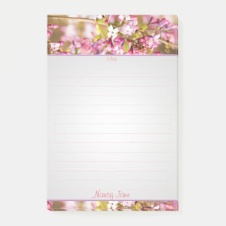 Personalize:  Spring Lilac Floral Photography Post-it Notes