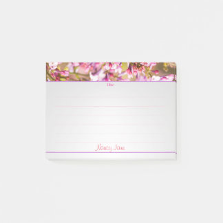 Personalize:  Spring Lilacs Floral Photography Post-it Notes