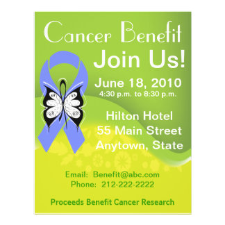 Personalize Stomach Cancer Fundraising Benefit 21.5 Cm X 28 Cm Flyer