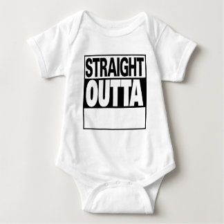 personalize straight outta baby bodysuit