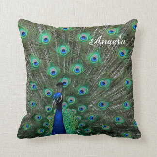 Personalize Strutting Male Peacock Cushions
