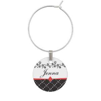 Personalize Stylish Wine Charm