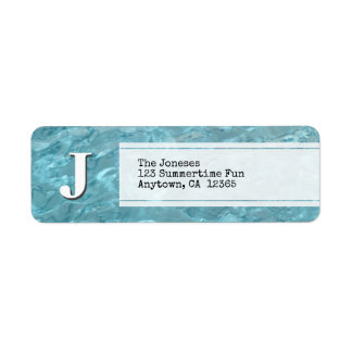 Personalize: Swimming Pool Abstract Photography Return Address Label