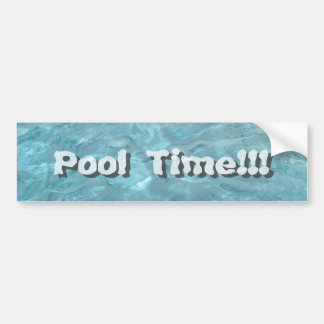 Personalize: Swimming Pool Water Abstract Bumper Sticker