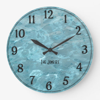 Personalize: Swimming Pool Water - Summer Abstract Wall Clocks