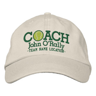 Personalize Tennis Coach Cap Your Name Your Game Embroidered Baseball Caps