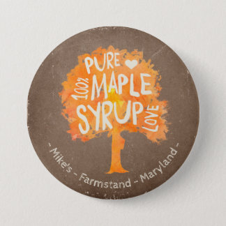 Personalize Text On Maple Syrup Tree Button