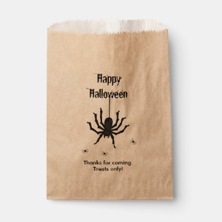 Personalize Thank You, Happy Halloween Spiders Favour Bags