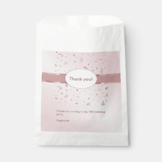 """Personalize: """"Thank You"""" Pink Textured Favour Bags"""