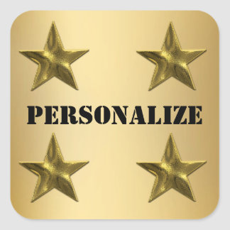 Personalize These Gold Stars Seals And Stickers