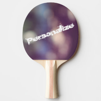 Personalize this Abstract Bokeh Photo Design Ping Pong Paddle