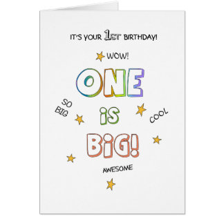Personalize This BIG 1st BIRTHDAY Card