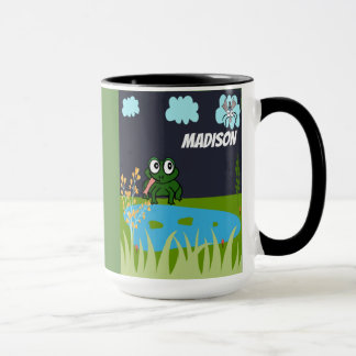 Personalize This Cute Frog And Fly Mug