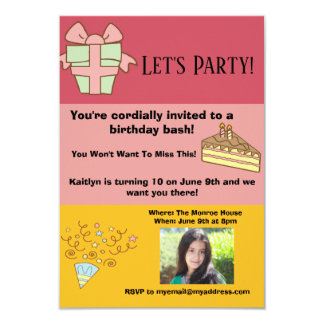 Personalize This Editable Birthday Invitation