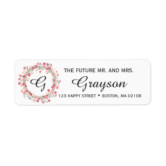 Personalize this Flower Return Address Label