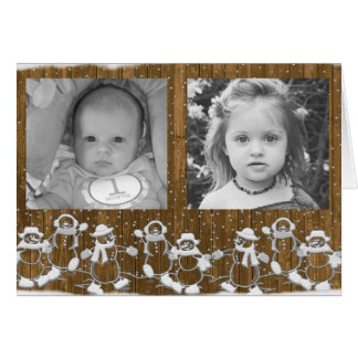 Personalize this Gingerbread Man Christmas Card! Card