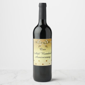 Personalize this Gold Anniversary  Bottle Label