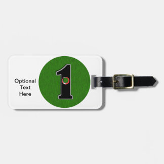 Personalize this Lucky Golfer Hole in One Design! Luggage Tag