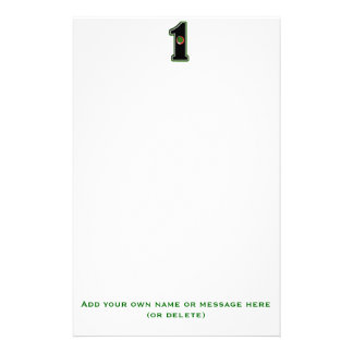 Personalize this Lucky Golfer Hole in One Design! Personalized Stationery
