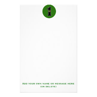 Personalize this Lucky Golfer Hole in One Design! Stationery Paper