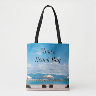 Personalize this Mom's Beach Bag Beachy Graphics