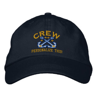 Personalize This Name Location Crew Nautical Embroidered Hat