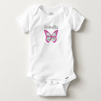 Personalize this Pretty Baby One Piece w Butterfly Baby Onesie