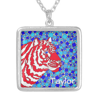 Personalize This Red White And Blue Tiger Jewelry