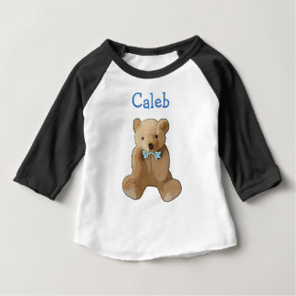 Personalize this Teddy Bear Baby Boy Shirt