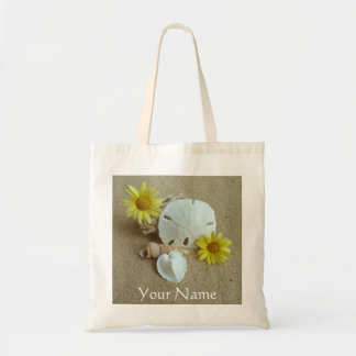 Personalize Tote Bag with Beach and Seashells