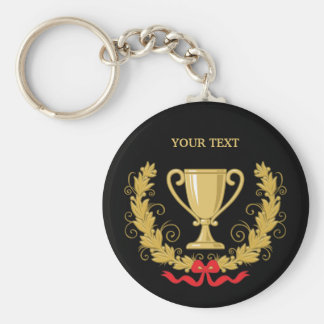Personalize Trophy Cup [dark] Key Ring