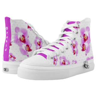 Personalize: Tropical Orchid Floral Photography High Tops