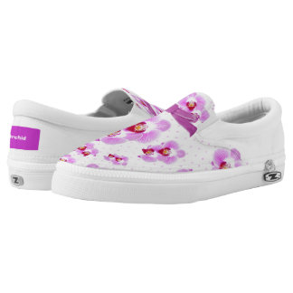 Personalize: Tropical Orchid Floral Photography Slip-On Shoes