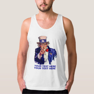 Personalize Uncle Sam Tank Top