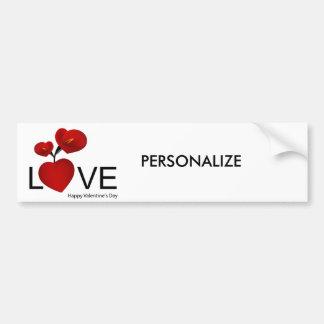PERSONALIZE VALENTINE'S DAY / WEDDING CAR BUMPER STICKER