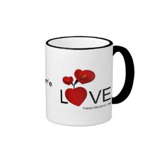 PERSONALIZE VALENTINE'S DAY / WEDDING RINGER COFFEE MUG