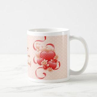 PERSONALIZE VALENTINE'S DAY / WEDDING CLASSIC WHITE COFFEE MUG