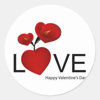 PERSONALIZE VALENTINE'S DAY / WEDDING ROUND STICKER